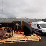 skid containerbeed lashen securen bus