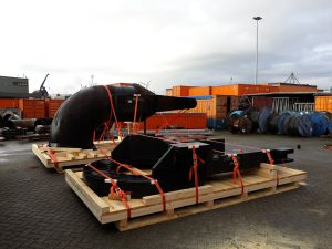 skid containerbreed 230 lashen securen